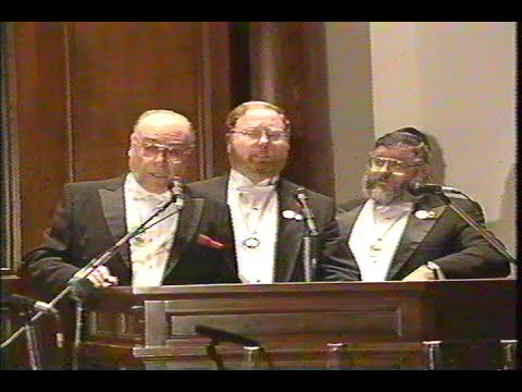 The first Cantorial Concert at The SHUL, Surfside Fl. March 3, 1996.