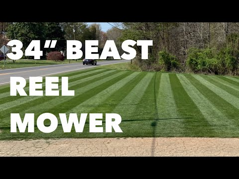 Reel Mowing And Set Up Allett C34 | DARK LAWN STRIPES