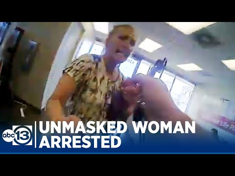 Galveston officer arrests woman who refused to wear mask