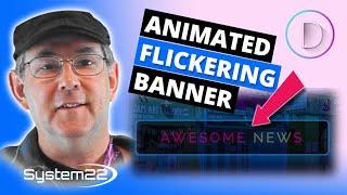 Divi Theme Animated Flickering Headline Banner 👍👍👍