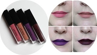 Inglot HD Lip Tint Matte Review, Swatches & Time Test