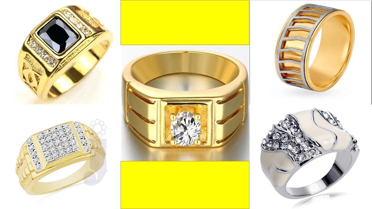 30 Best Gold Ring For Men Tanishq Youtube