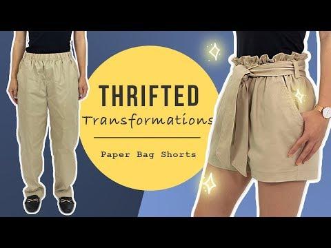 DIY Paper Bag Shorts | Thrifted Transformations