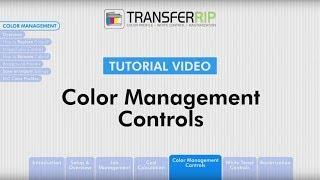 TransferRIP Part 5.1 - Introduction (Color Management)