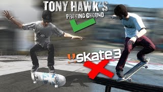 Tricks You Can't Do in SKATE 3, But Can in TONY HAWKS PROVING GROUND