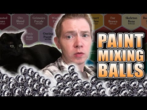 How To Make Shaker Bottles: Army Painter Mixing Agitator Balls REVIEW