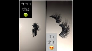 HOW TO: DIY Restoring Fake Eyelashes || Fast And Easy!