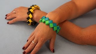 Duct Tape Zig Zag Bracelet|Sophie