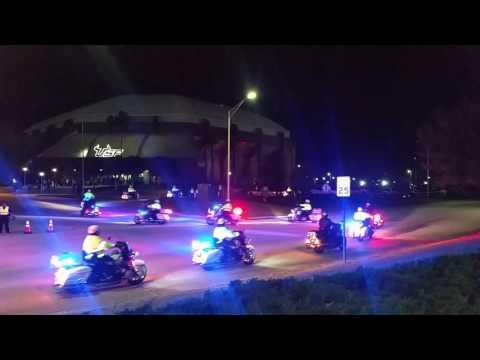 TRUMP USF Tampa Law Enforcement Motorcade
