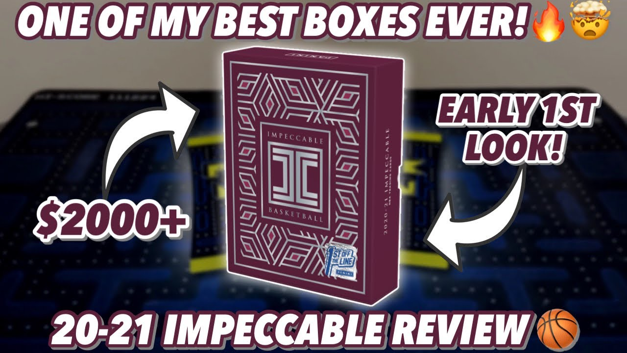 ONE OF MY BEST BOXES EVER!🔥🤯 $2000+! | 2020-21 Panini Impeccable Basketball FOTL Hobby Box Review