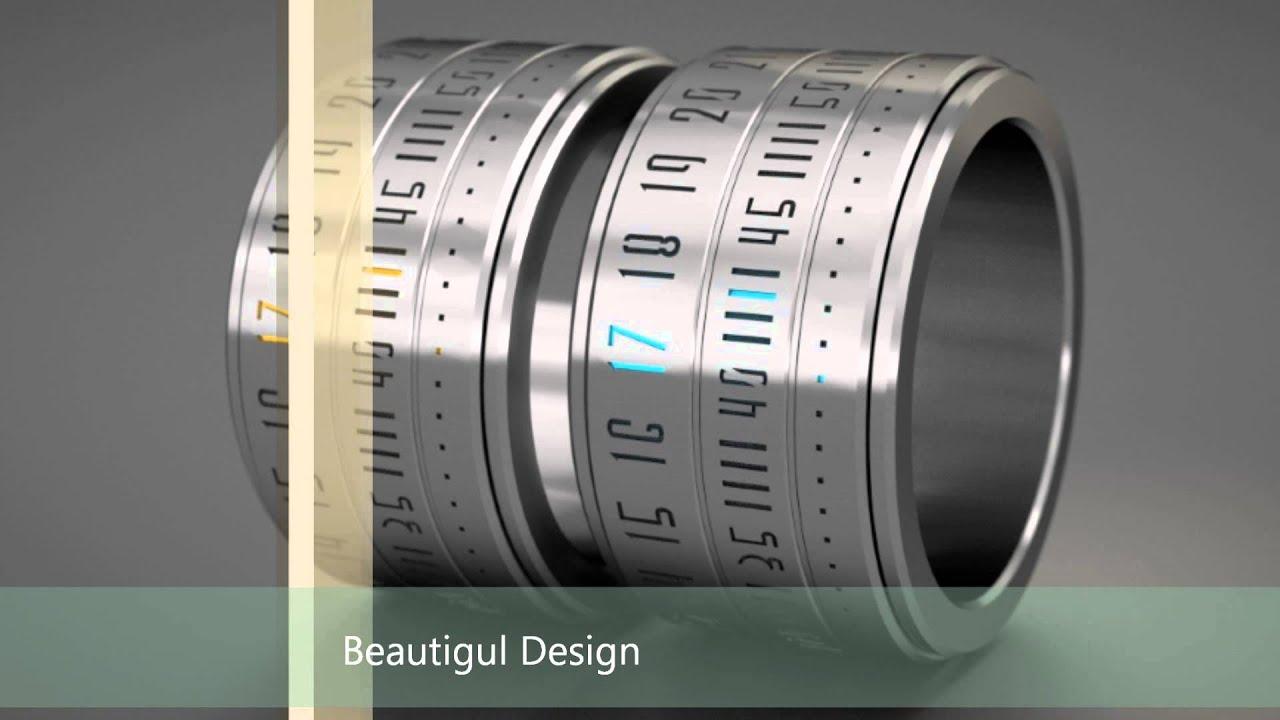 futuristic clock smart ring clock watch digital finger watch design youtube
