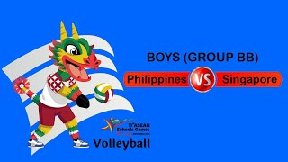(streaming) Philippines Vs Singapore Asean Schools Game 2019