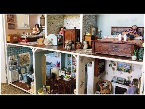 Barbie Dollhouse Tour | Huge Wooden Dollhouse Renovation
