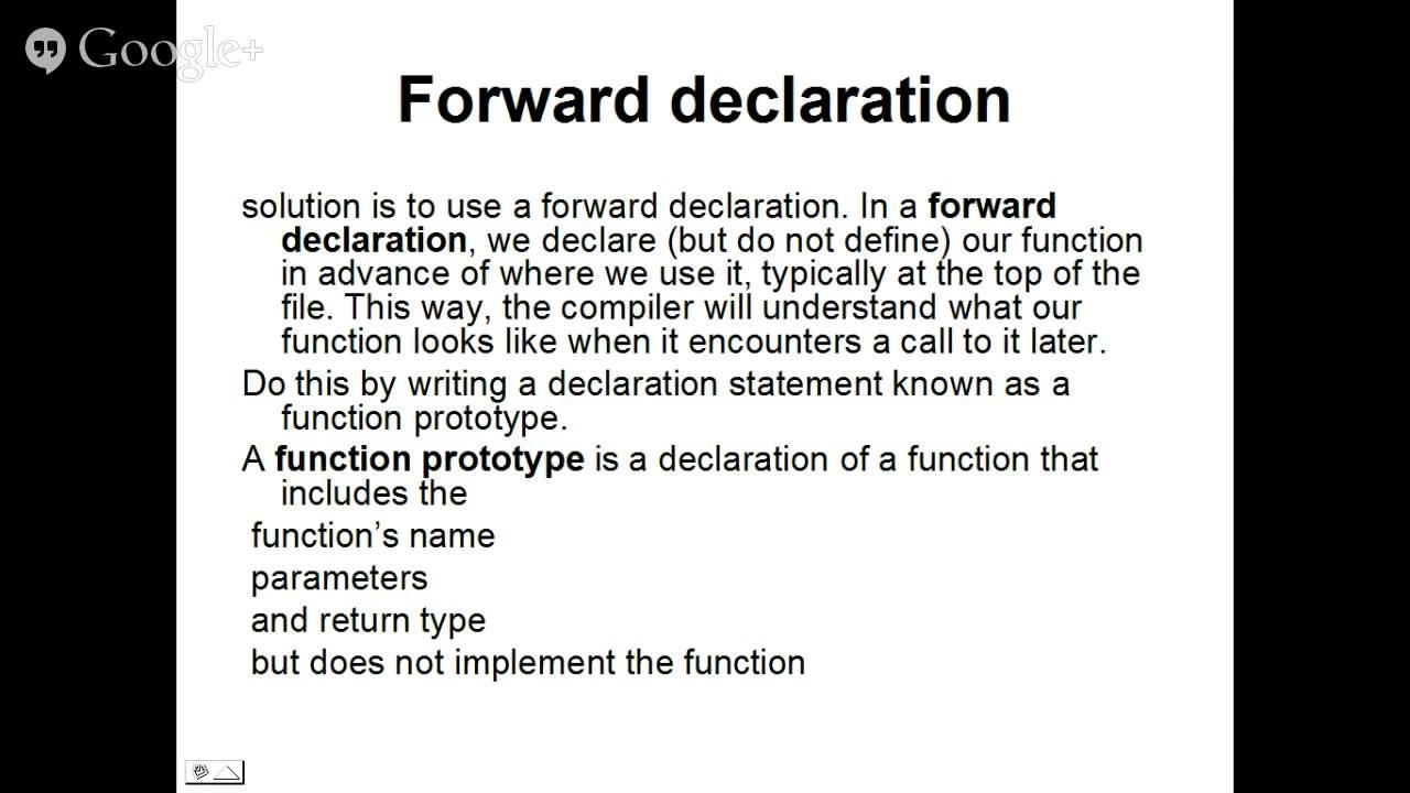 Nett Vorlage Forward Deklaration Zeitgenössisch ...
