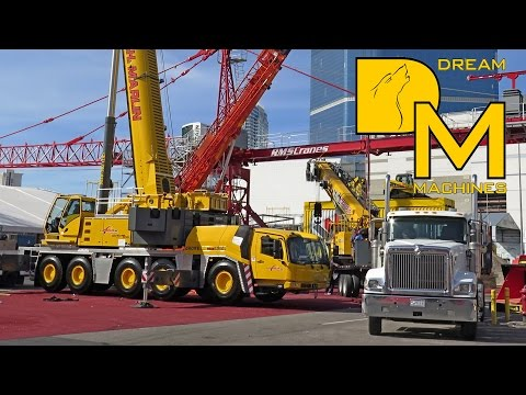 HEAVY CRANES WORKING AT CONEXPO # BIG CLEANOUT AT CONVENTION CENTER #1