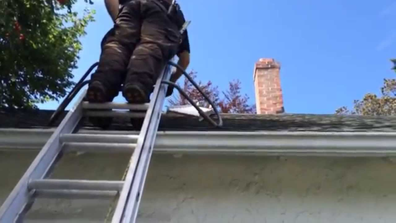Roof Safety Equipment, Ladder Hooks With Wheels, Flue Guru   YouTube