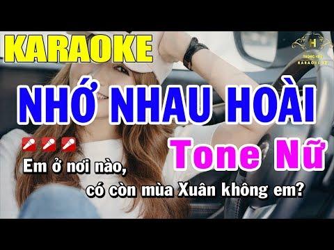 Karaoke Nhớ Nhau Hoài Tone Nữ Nhạc Sống | Trọng Hiếu