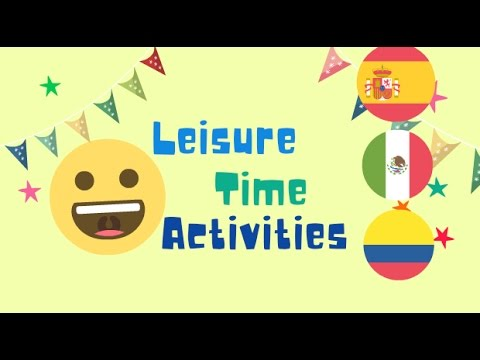 leisure time activities learn spanish youtube. Black Bedroom Furniture Sets. Home Design Ideas