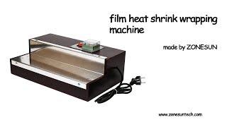 Video ZONESUN film heat shrink wrapping machine for perfume box Cigarettes,phone box blister film machine download MP3, 3GP, MP4, WEBM, AVI, FLV Juli 2018