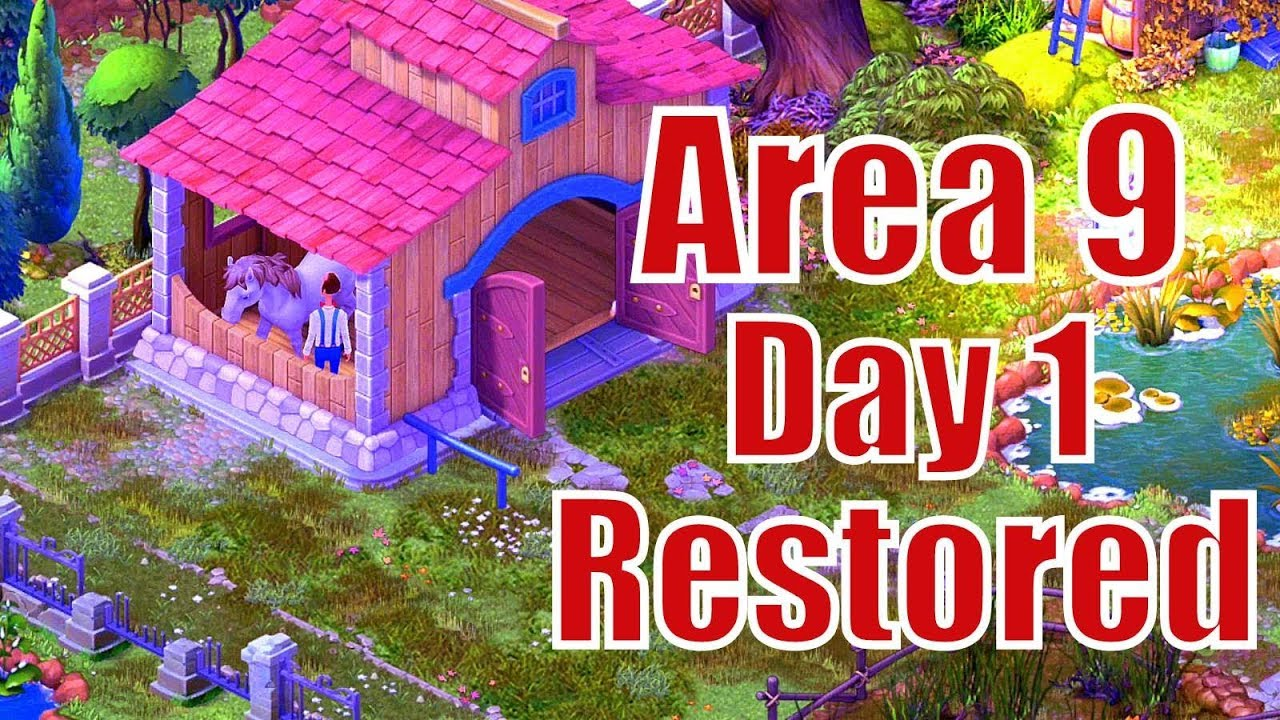 Gardenscapes New Area 9 Day 1 Restored/Top Garden Designing Free Android U0026  Ios Popular Game