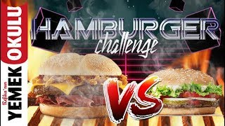 43 TL VS 13 TL Burger King Hamburger Meydan Okuması (Challenge) Evde Ucuz ve Hızlı Hamburger