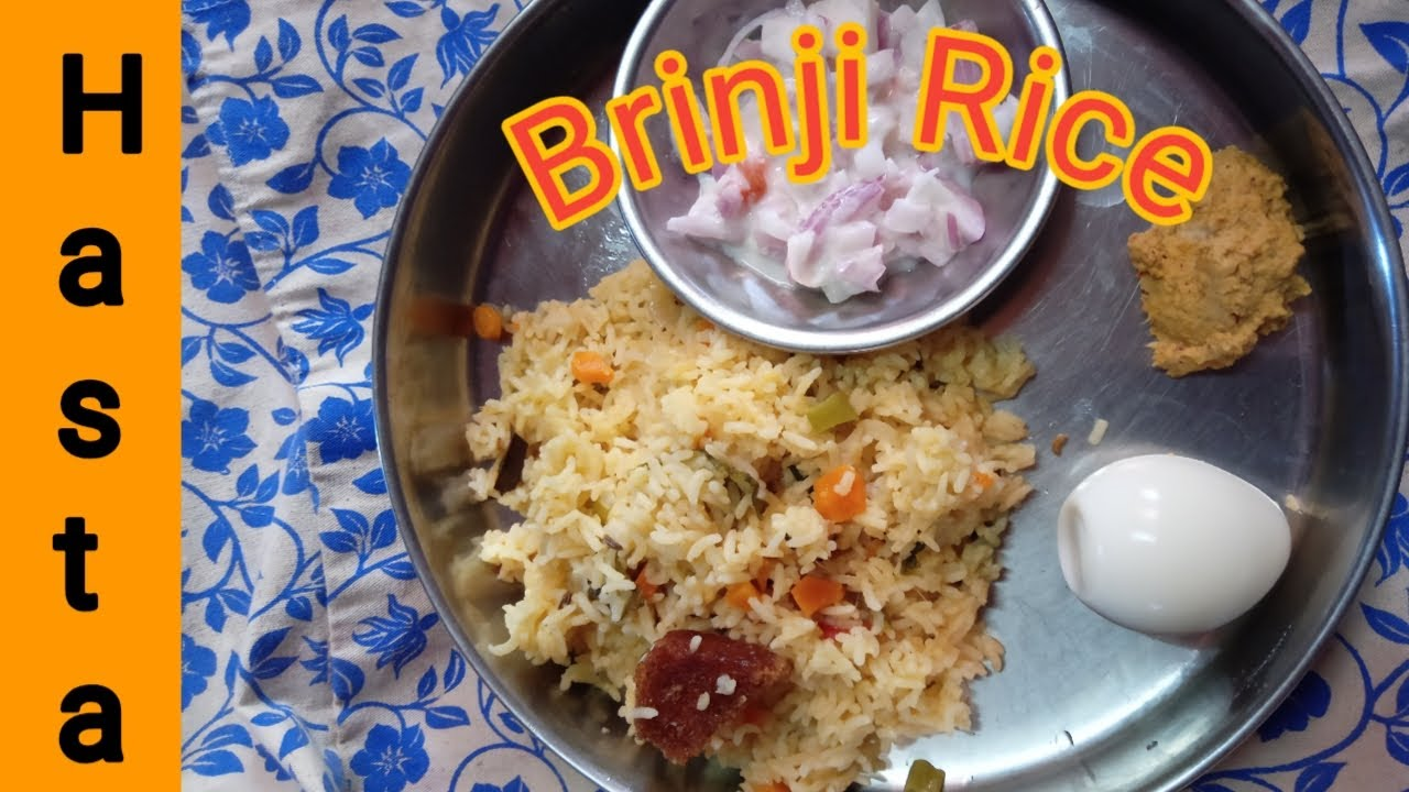 Brinji Rice eppadi seyvathu/how to make brinji rice recipe in Tamil/hasta healthy foods
