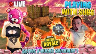 🔴 Spielen mit SUBS + ACTIVE V-Bucks GIVEAWAY ! 🔴 Fortnite Battle Royale! 🔴 Live-Stream !
