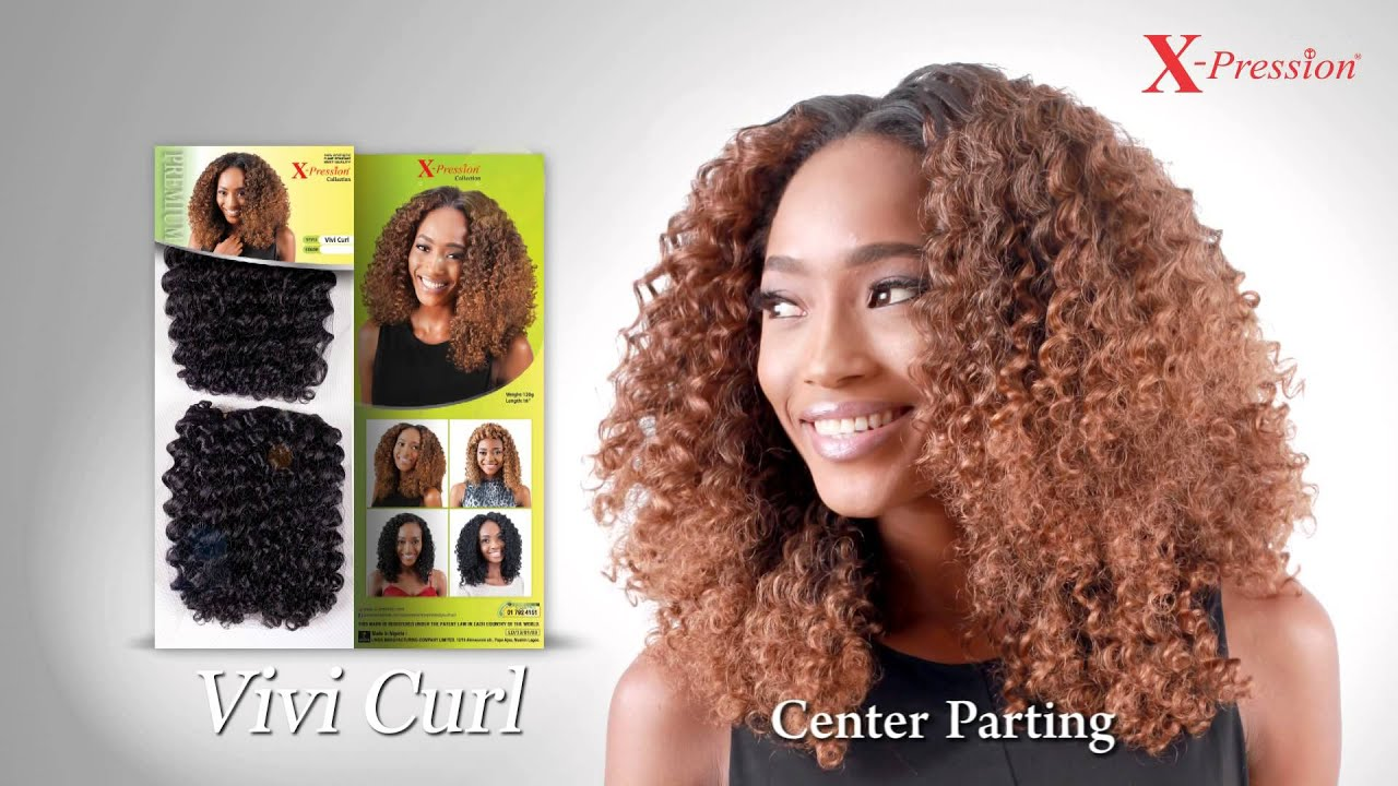 Curly Crochet Braids With Xpression Hair : Pression, Vivi Curl - YouTube