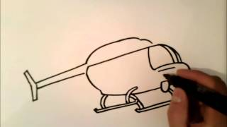 how to draw a helicopter | how to draw a helicopter step by step