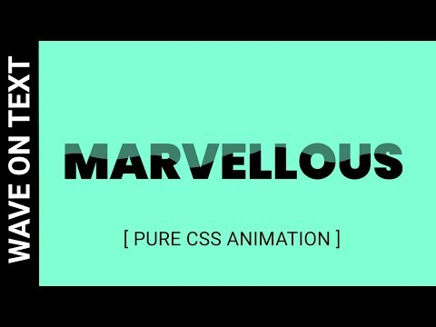 Wave Animation on Text using css