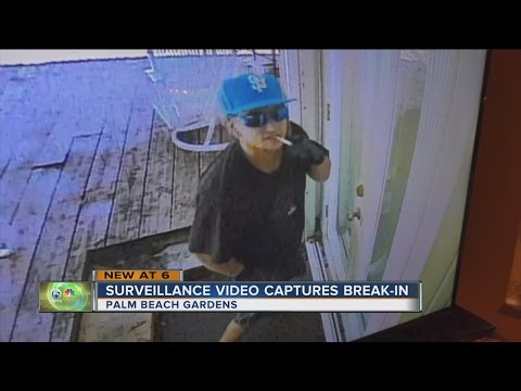 Police looking for Palm Beach Gardens burglar caught on surveillance camera