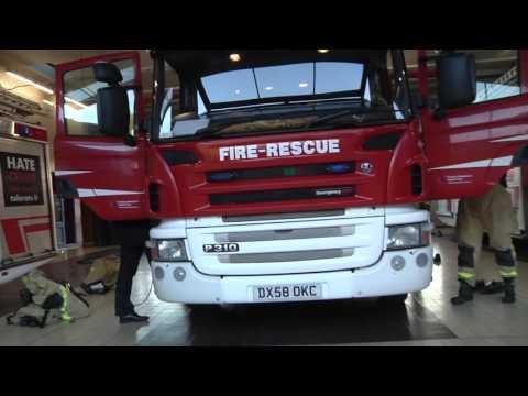Shropshire Firefighters Mannequin Challenge, Blue Watch, Telford