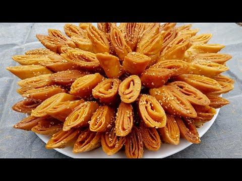 حلويات رمضان/الشباكية المغربية/لسان العصفور/او/معسلات رمضان/ حلويات مغربية 2018/شهيوات رمضان