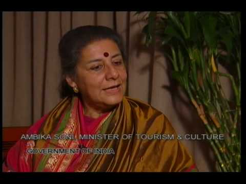 Ms.  Rita Zhao Interviews Ambika Soni, India Minister of Culture & Tourism
