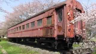 [HD]樽見鉄道 谷汲口駅に保存してある旧型客車オハフ502