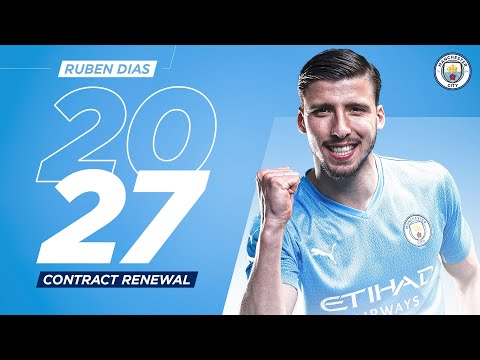 New contract for Rúben Dias |  Man City and Portugal Defender sign until 2027!