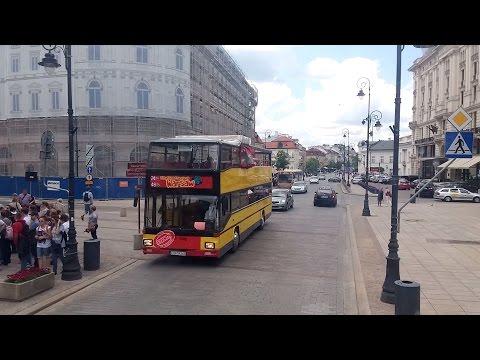 Autobus piętrowy w Warszawie - przejazd
