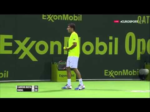 Rafael Nadal vs Pablo Carreño Busta FULL MATCH ᴴᴰ DOHA 2016 PART 1
