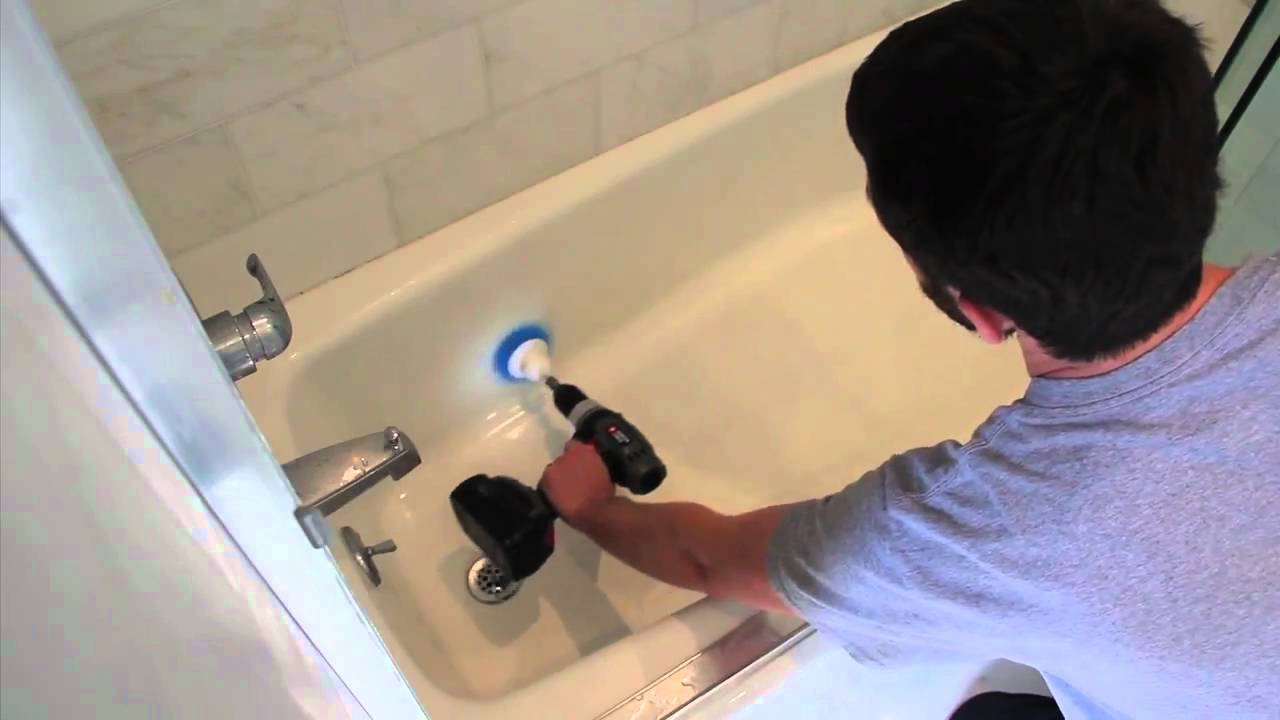 The manly scrub brush in action  YouTube