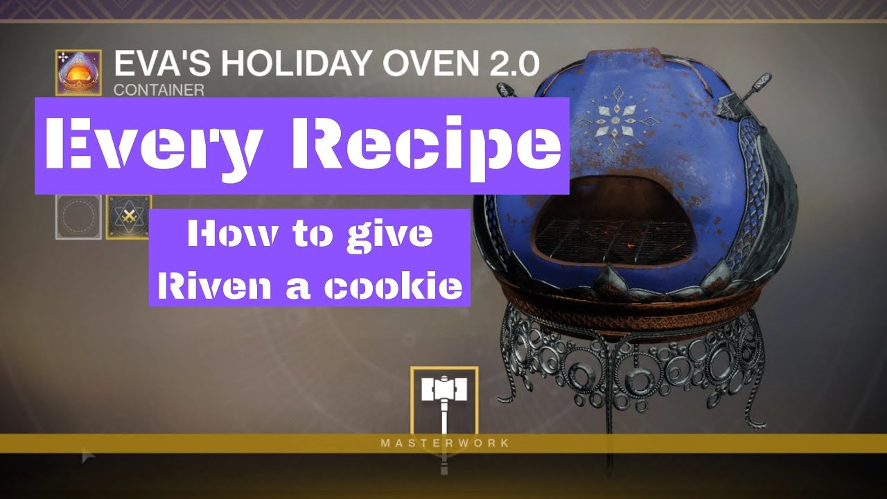 Every Eva S Holiday Oven 2 0 Recipe Giving Riven A Cookie Youtube