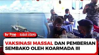 Koarmada III Gelar Vaksinasi Massal di KRI Kerapu | Kabar Utama tvOne