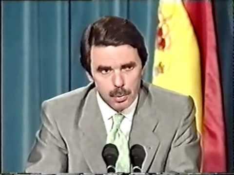 Aznar - Rueda de prensa con Jacques Santer (1/3)