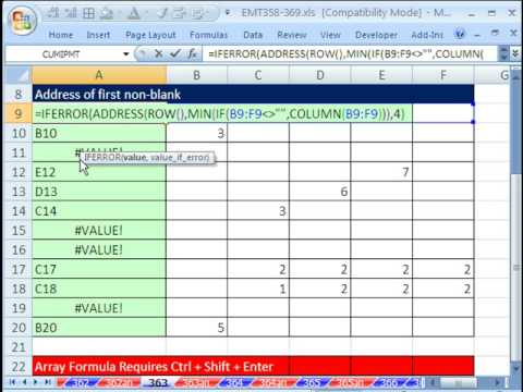 how to add cell address in excel