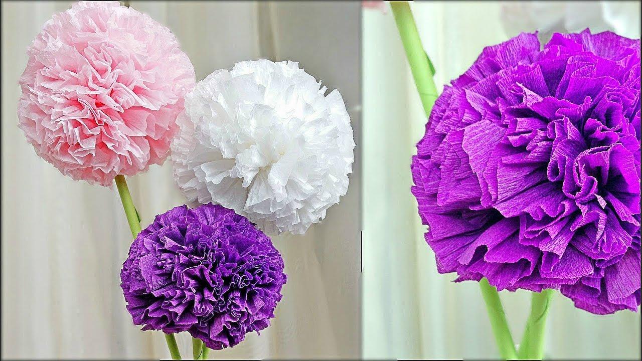 blumen aus pompons, round toilet paper / tissue flower / blumen mit papier servietten, Design ideen