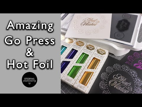 GoPress and Foil tutorial | How to get perfect foiling using dies | DIY Invitations and cards