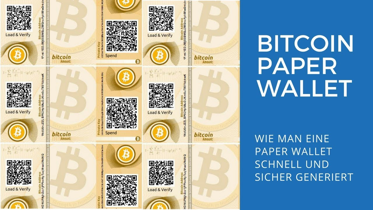 Amount Deutsch bitcoin paper wallet erstellen - ein tutorial auf deutsch
