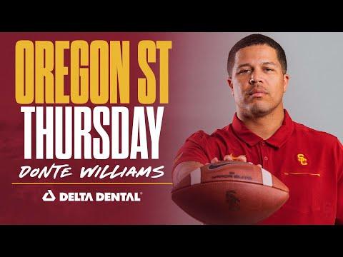 USC Football: 2021 Oregon State Thursday: Donte Williams