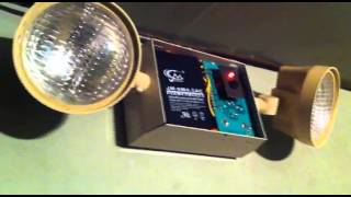 exit signs changing batteries the sure lites lm1 lives again