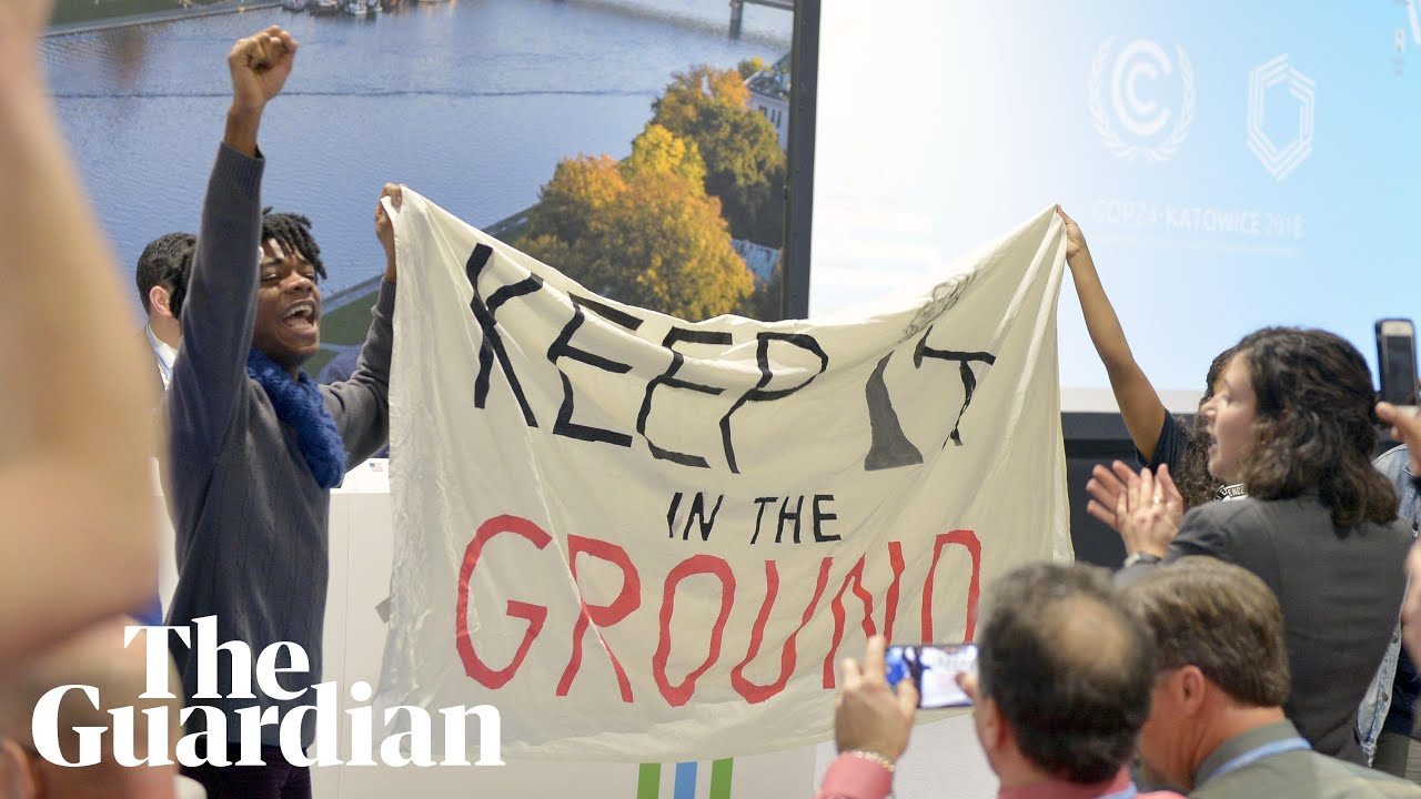 Protesters disrupt pro-fossil fuel event at COP24