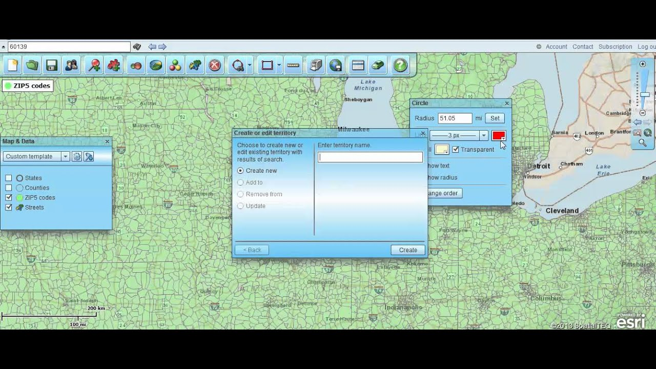 Find All Zip Codes Within A Radius Using Map Business Online Zip Code Radius Map on zip code county maps, zip code area maps, zip code city maps,